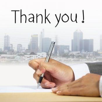 Importancia de las notas de agradecimiento